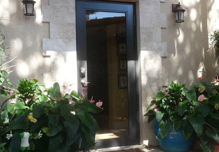 Full view rear entrance door
