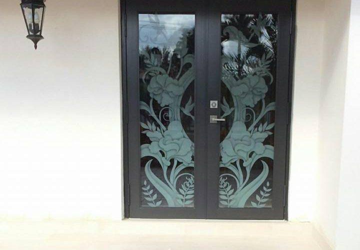 Custom Door Glass Art Design 2